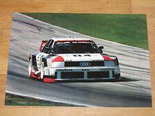 AUDI IMSA 90 GTO Quattro Poster - Race Track W. Röhrl / ORIGINAL VINTAGE IN MINT