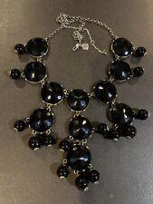 J. Crew Black Faceted Bubble Chandelier Necklace