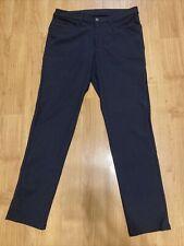 men LULULEMON ABC pants classic LM5426SE warpstreme stretch 34 X 33 Asphalt Gray