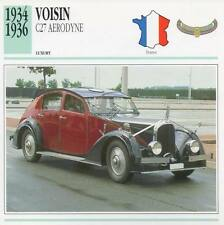 1934-1936 VOISIN C27 AERODYNE Classic Car Photograph / Information Maxi Card