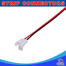 10 X 10mm 2pins strip to wire connector with solid lock design for led strip