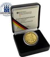 Goldmünze UNESCO WELTERBE 2016 Regensburg Deutschland 100 Euro Gold Mzz J