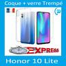 Pour Huawei Honor 10 Lite  Coque Gel +Vitre Protection écran Verre Trempe