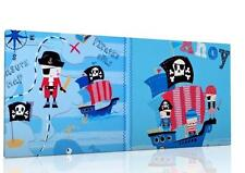 """SINGLE CANVAS PICTURE WALL ART with next`s  PIRATE SHIP AHOY  8"""" X 16""""  NEW !!"""