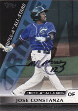 JOSE CONSTANZA COLUMBUS CLIPPERS INDIANS SIGNED PRO DEBUT CARD ATLANTA BRAVES