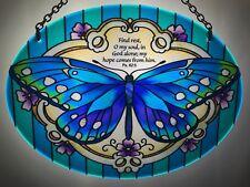 Joan Baker Stained Glass Art Suncatcher-MO289-Victorian Butterfly Window Hanger