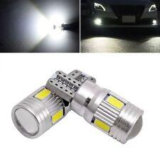2x T10 High Power White LED Daytime Fog Light Targa 6000K Light NOVITÀ New