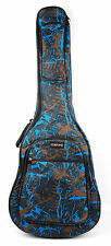 "Blue Camouflage Guitar Cover Case For Acoustic Electric Classical Guitars (41"")"