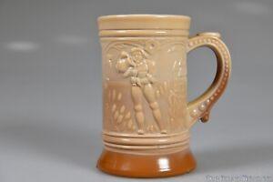c. 1902 No. 301 OUTDOOR DRINKING SCENE Indiana Tumbler Greentown CHOCOLATE Mug 1