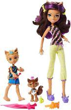 Monster High Monster Family Clawdeen Wolf Barker Wolf Weredith Wolf Dolls 3 P...