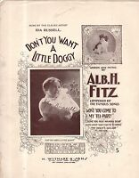 1907 Don't you want a little doggy? by Alb. H Fitz Showing Ida Russell