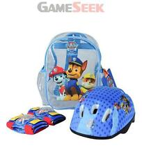 PAW PATROL HELMET, KNEE PADS, ELBOW PADS AND BAG PROTECTION PACK - TOYS NEW