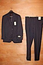 Men's LANZA COLLEZIONE Striped Navy Tuxedo Suit Jacket 44 R Pants 38 NEW