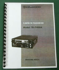 Kenwood TR-7400 Instruction Manual: Cardstock & Plastic Protective Covers!