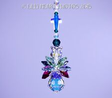 m/w Swarovski Rare Aurora Christmas Cross Angel SunCatcher Lilli Heart Designs