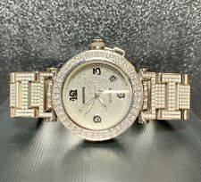 Cartier Pasha Men's Steel Watch 40mm Iced Out 13ct Genuine Diamonds Ref 2790