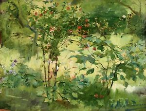 JOSE MIRALLES DARMANIN (1851-1900) SIGNED FRENCH SPANISH OIL PANEL - WILDFLOWERS