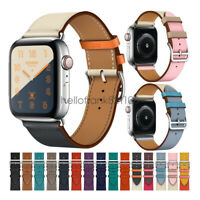 Apple Watch Band 40mm 44mm 38mm 42mm Swift Leather Single Tour Bracelet Strap