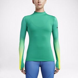 New Nike Pro Hyperwarm Womens Long Sleeve Top, Size Large