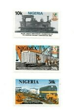 SPECIAL LOT Nigeria 1980 391-3 - Railway Corp. - 10 Sets of 3v - MNH