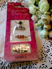 Darice Delicately Yours Layering Necklaces Makes 3 Skull Bones Crystal New!