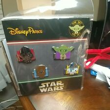 Disney STAR WARS - YODA- CHEWIE- VADER -R2-D2 - 4 Pin Booster Set - New in Pack