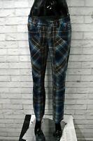 JECKERSON Pantalone a Quadri Donna Taglia Size 29 Jeans Pants Woman Jeans Casual