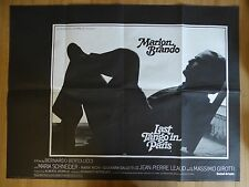 LAST TANGO IN PARIS (1972) - original UK quad film/movie poster, Marlon Brando