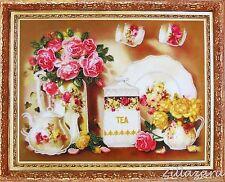 Service Stickpackung Stickbild Stickset Bild sticken mit Perlen 303