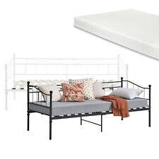 [en.casa] Metall Tagesbett 90x200cm Schlafzimmerbett Einzelbett Bett Matratze