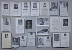 Konvolut Soldatensterbebilder ● Fotos ● 2. Weltkrieg WK ● Sammlung ● Death Cards