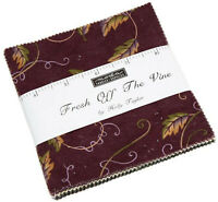 "Fresh Off The Vine Moda Charm Pack 42 100% Cotton 5"" Precut Fabric Quilt Squares"