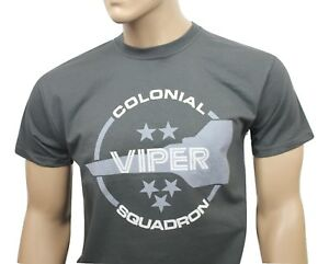 Battlestar Galactica TV inspired mens t-shirt- Colonial Viper Squadron