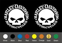 Harley Davidson motorbike decals ( x 2 total )