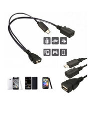 OTG Host Power Splitter Micro USB Male to USB Female And Micro USB Female Cable