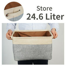Collapsible Foldable Cloth Fabric Canvas Bag Storage Carrier Bins Baskets
