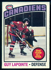 1976-77 OPC O PEE CHEE #223 GUY LAPOINTE NM MONTREAL CANADIENS HOCKEY CARD
