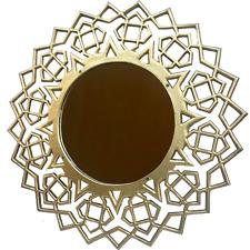 "20"" Gold Geometric Mirror"