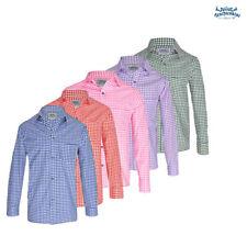 Klassisches Trachtenhemd, versch. Farben, kariert. Rosa, Blau, Rot, Lila, Grün.
