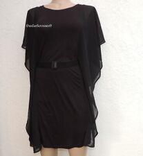 H&M Minikleid  gr.S 36/ 38  Kleid  Chiffon Fledermausärmel  Party Gothic  Neu