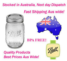 6 Ball Mason Regular Mouth Pint 500ml Jars Preserving Storage Weddings