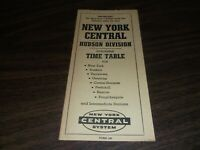 APRIL 1963 NYC NEW YORK CENTRAL FORM 105 HUDSON DIVISION PUBLIC TIMETABLE