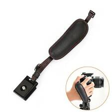 Genuine Leather Black Hand Strap Grip for Canon Nikon Sony Fuji DSLR Camera