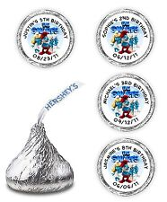 108 SMURFS BIRTHDAY PARTY HERSHEY CANDY KISSES FAVORS LABELS STICKERS DECALS