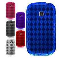 For Samsung Galaxy Exhibit T599 TPU CANDY Gel Flexi Skin Case Phone Cover Plaid