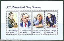 SAO TOME 2013 50th BIRTH ANNIVERSARY GARRY KASPAROV CHESS  SHEET MINT NH