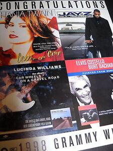 LUCINDA WILLIAMS Shania Twain JAY-Z E. Costello 1999 AD