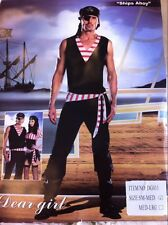 Aussie Stock Ships Ahoy Mens Fancy Dress Up Party Sexy Costume M & L