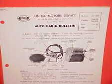 1951 CADILLAC FLEETWOOD 75 LIMOUSINE UNITED MOTORS DELCO GM RADIO SERVICE MANUAL