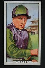 W SPECK   Famous 1930's  Jockey  Original Vintage Card